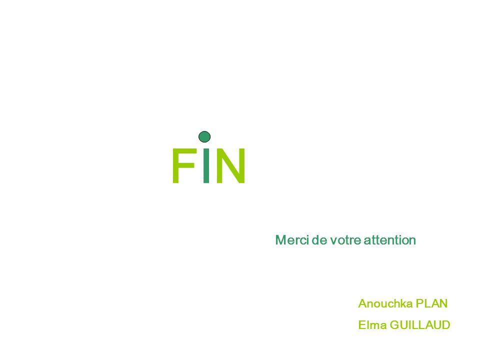 FINFIN Merci de votre attention Anouchka PLAN Elma GUILLAUD
