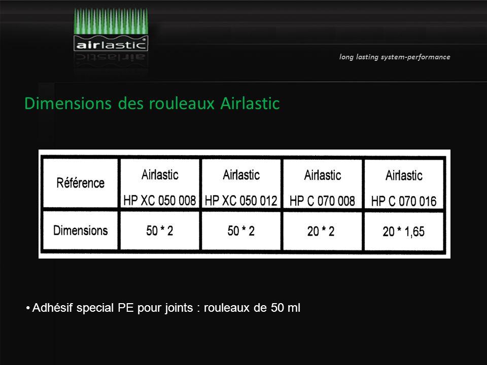 long lasting system-performance Dimensions des rouleaux Airlastic Adhésif special PE pour joints : rouleaux de 50 ml