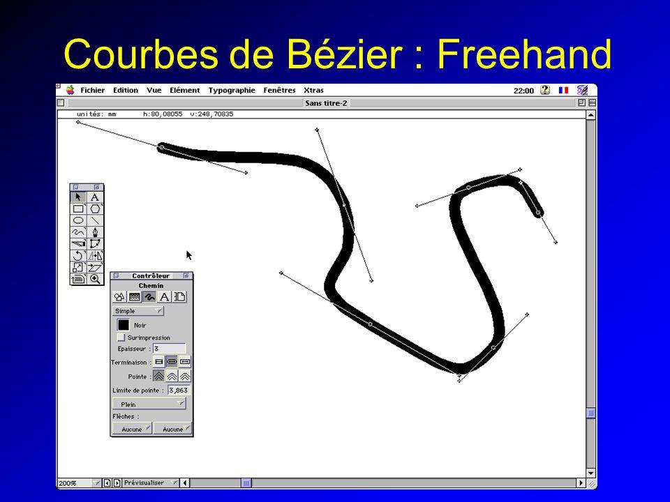 Courbes de Bézier : Freehand