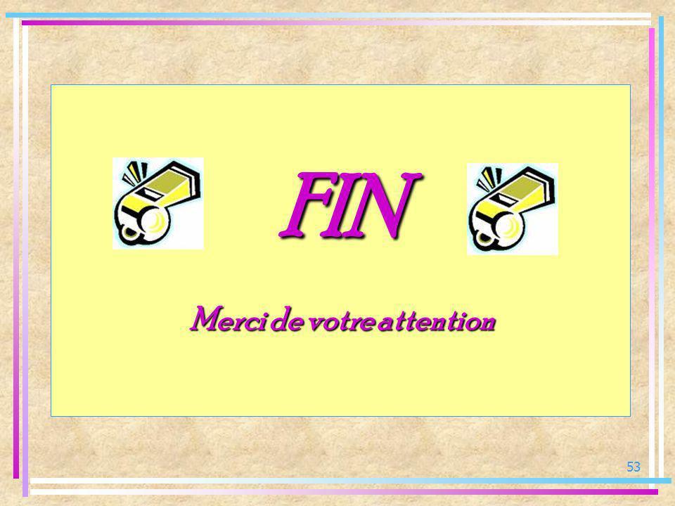 53 FIN FIN Merci de votre attention