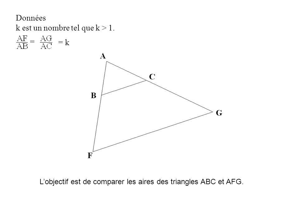 La réciproque du théorème de Thalès prouve dans un premier temps que les droites (BC) et (FG) sont parallèles.