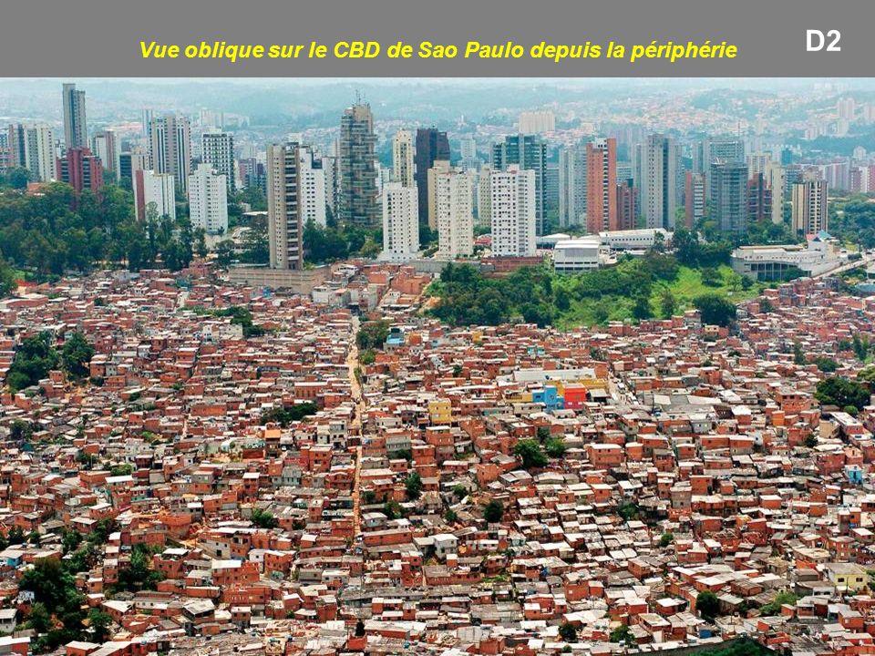 Vue oblique sur le CBD de Sao Paulo depuis la périphérie D2
