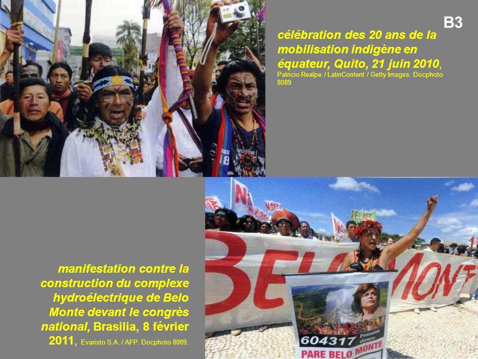 célébration des 20 ans de la mobilisation indigène en équateur, Quito, 21 juin 2010, Patricio Realpe / LatinContent / Getty Images.