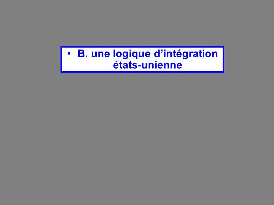 B. une logique dintégration états-unienne