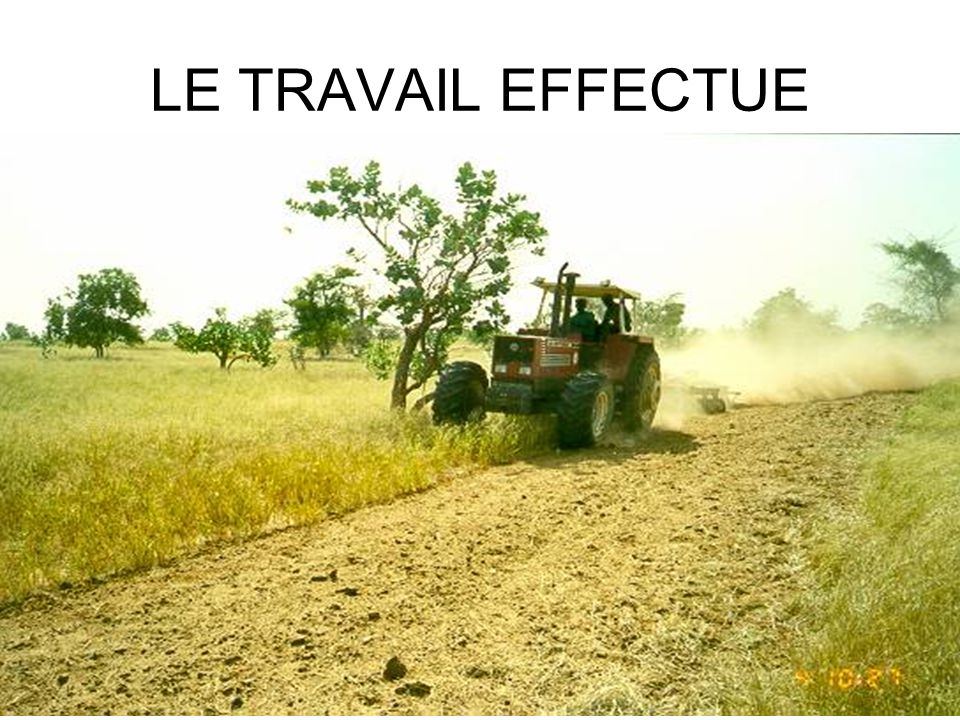 LE TRAVAIL EFFECTUE