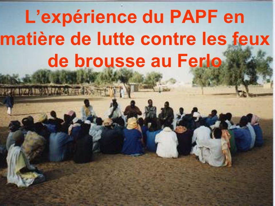 Lexpérience du PAPF en matière de lutte contre les feux de brousse au Ferlo