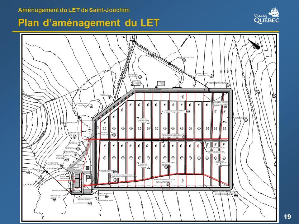 Aménagement du LET de Saint-Joachim 19 Plan daménagement du LET