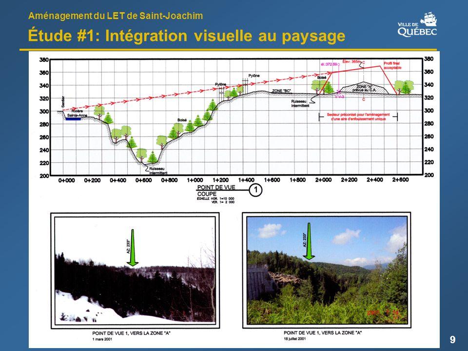 Aménagement du LET de Saint-Joachim 9 Étude #1: Intégration visuelle au paysage