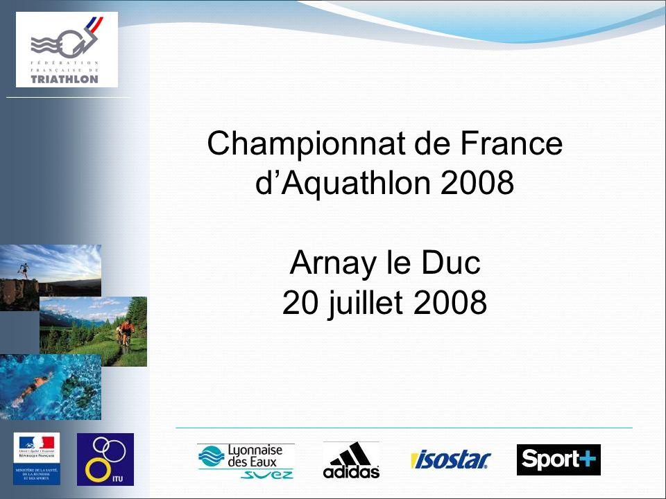 Championnat de France dAquathlon 2008 Arnay le Duc 20 juillet 2008