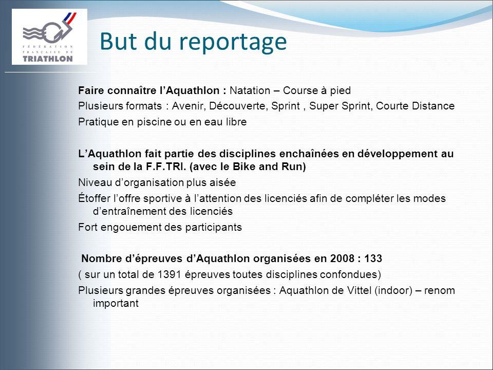 Infos Aquathlon 2 ème Edition des Championnats de France dAquathlon : Arnay le Duc : organisateur des Championnats de France dAquathlon depuis 2007 Format Courte Distance : 2 km de natation et 10 km de course à pied.