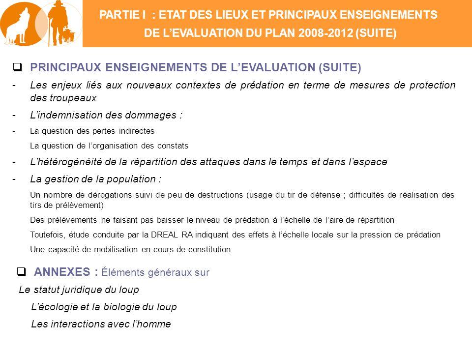 PRINCIPAUX ENSEIGNEMENTS DE LEVALUATION (SUITE) -Les enjeux liés aux nouveaux contextes de prédation en terme de mesures de protection des troupeaux -