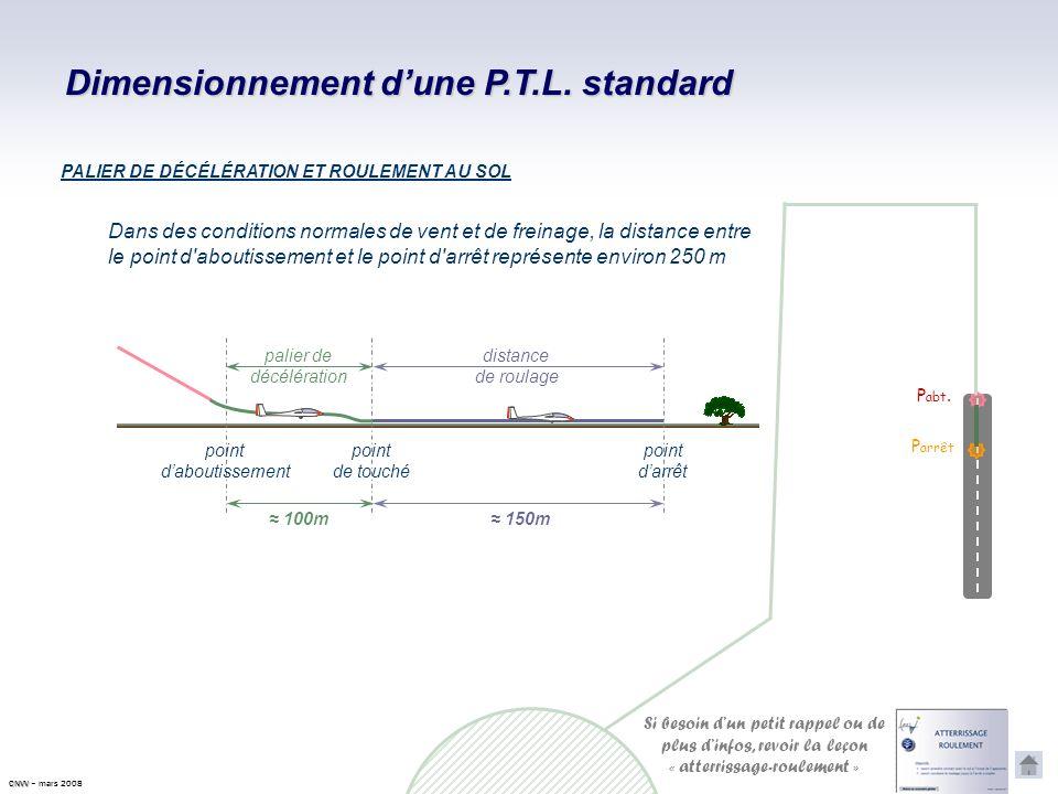 Dimensionnement dune P.T.L. standard Afin de pré positionner les différentes branches de la P.T.L., il est nécessaire de savoir quantifier et davoir u