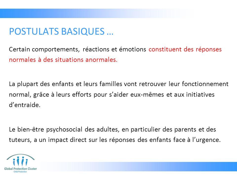 Certain comportements, réactions et émotions constituent des réponses normales à des situations anormales.