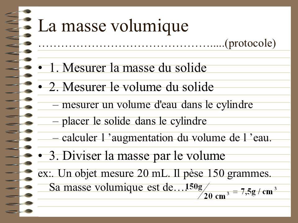 2. Propriétés caractéristiques ………………………...……….…...(des solides) Les propriétés caractéristiques nous permettent d identifier une substance solide Con