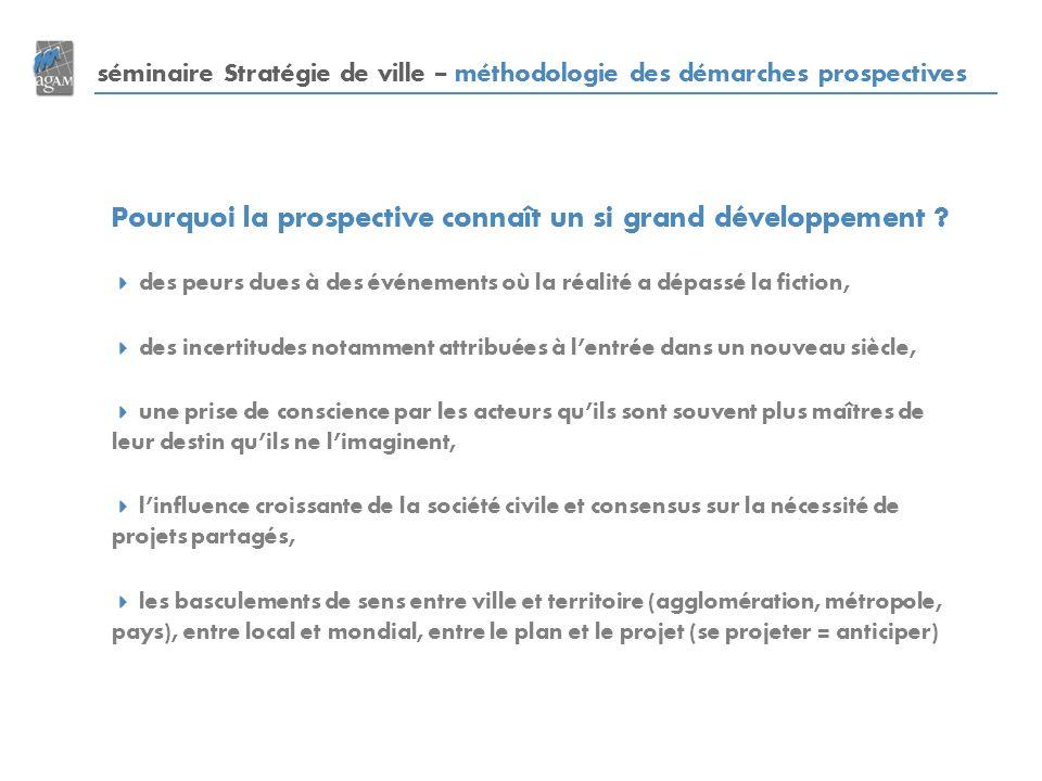 séminaire Stratégie de ville – méthodologie des démarches prospectives Pourquoi la prospective connaît un si grand développement .