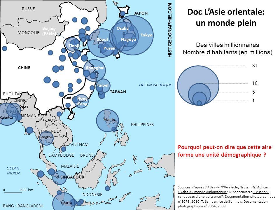 0600 km OCEAN PACIFIQUE OCEAN INDIEN RUSSIE MONGOLIE CHINE JAPON PHILIPPINES INDONESIE TAIWAN BHOUTAN INDE BANG. THAILANDE VIETNAM CAMPBODGE LAOS MALA