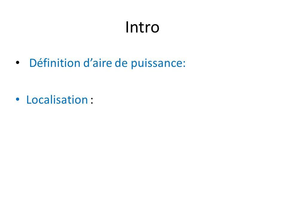 Intro Définition daire de puissance: Localisation :