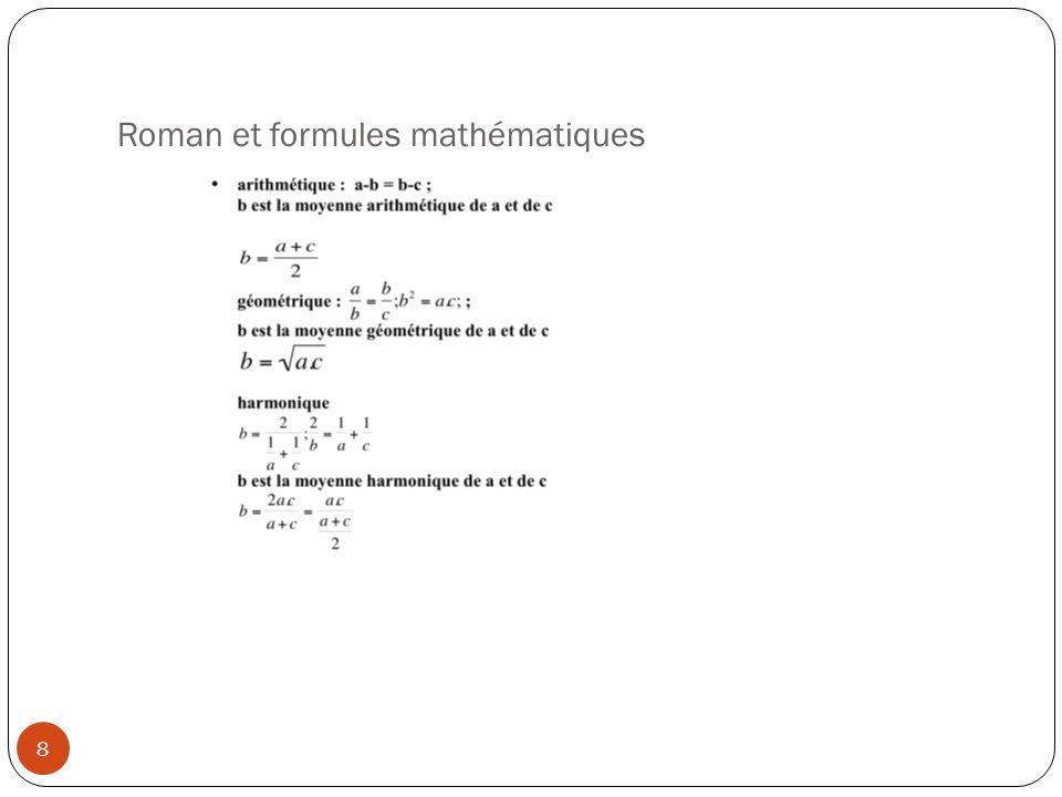 Roman et formules mathématiques 8