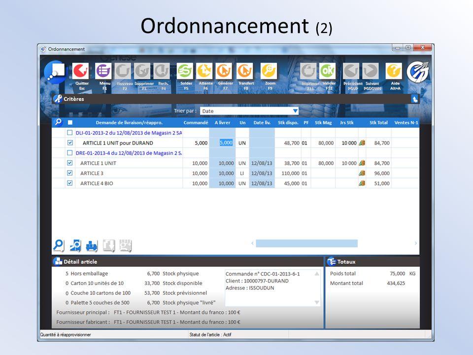 Ordonnancement (2)