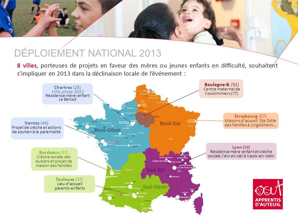 Bordeaux (33) Crèche sociale des Aubiers et projet de maison des familles Nantes (44) Projet de crèche et actions de soutien à la parentalité Strasbou