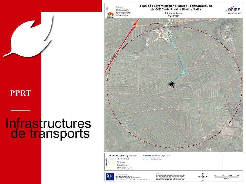 PPRT MEDD/DPPR/SEI - MTETM/DGUHC 17 Infrastructures de transports