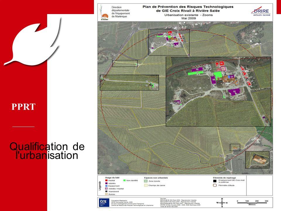 PPRT MEDD/DPPR/SEI - MTETM/DGUHC 7 Qualification de l'urbanisation