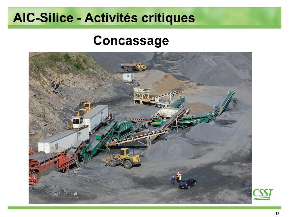 18 Concassage AIC-Silice - Activités critiques
