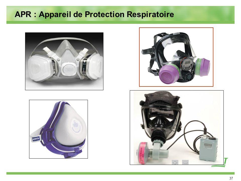 37 APR : Appareil de Protection Respiratoire