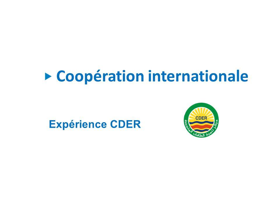 Coopération internationale Expérience CDER