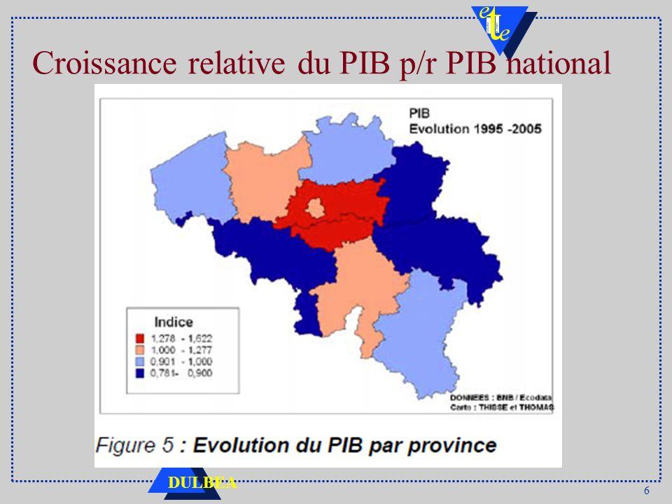 6 DULBEA Croissance relative du PIB p/r PIB national