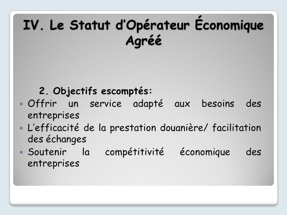 2. Objectifs escomptés: Offrir un service adapté aux besoins des entreprises Lefficacité de la prestation douanière/ facilitation des échanges Souteni