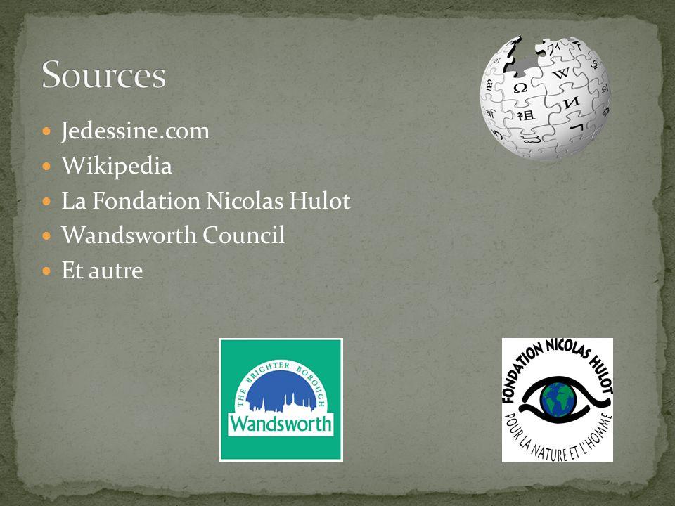 Jedessine.com Wikipedia La Fondation Nicolas Hulot Wandsworth Council Et autre