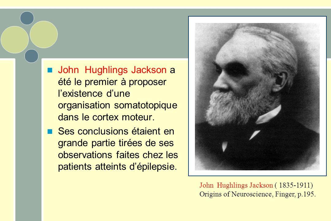 John Hughlings Jackson ( 1835-1911) Origins of Neuroscience, Finger, p.195. John Hughlings Jackson a été le premier à proposer lexistence dune organis