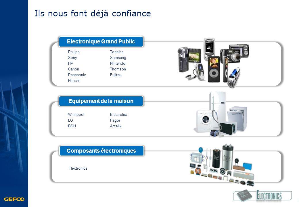 Ils nous font déjà confiance Electronique Grand Public Philips Sony HP Canon Panasonic Hitachi Toshiba Samsung Nintendo Thomson Fujitsu Equipement de