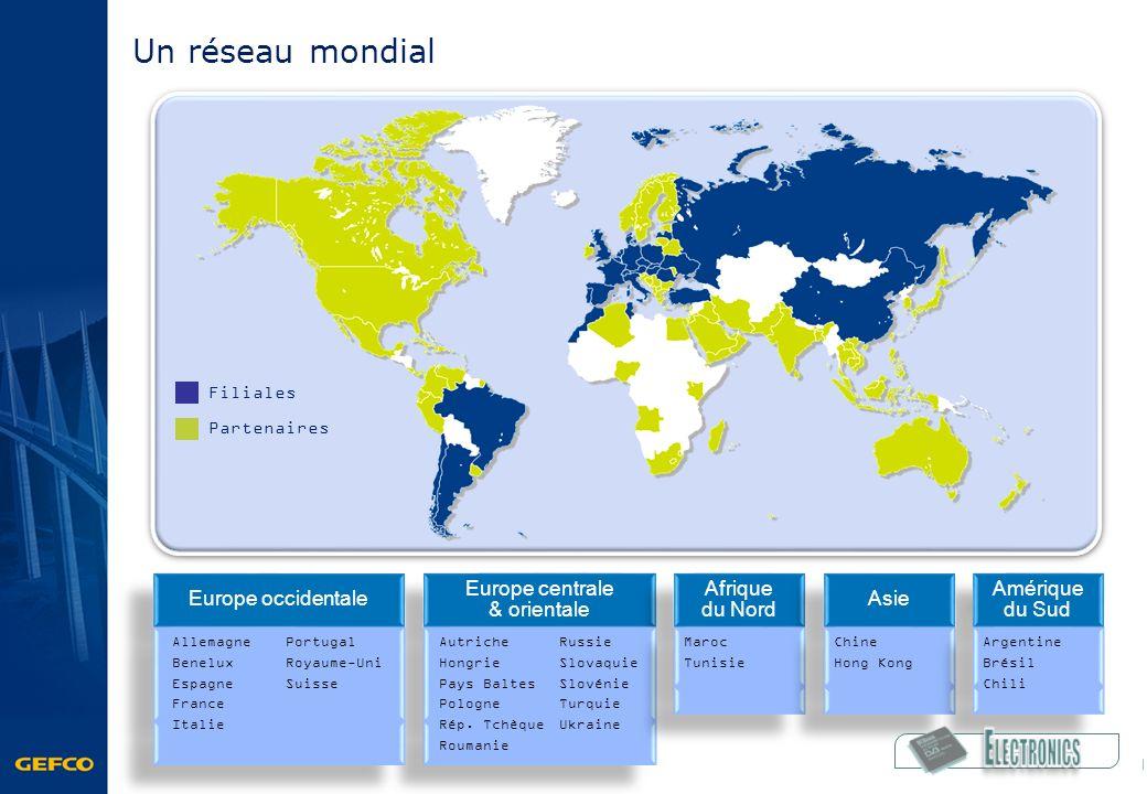 Amérique du Sud Europe centrale & orientale Afrique du Nord Afrique du Nord Asie Europe occidentale Partenaires Filiales Argentine Brésil Chili Allema