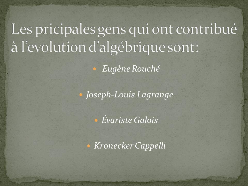 Eugène Rouché Né le 18 août 1832 Mort le 19 août 1910 Hérault VIE: Il est ancien élève de l École polytechnique (1852).