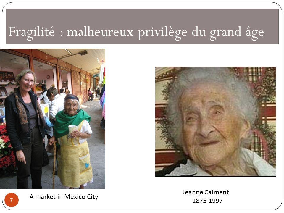 Fragilité : malheureux privilège du grand âge Jeanne Calment 1875-1997 A market in Mexico City 7