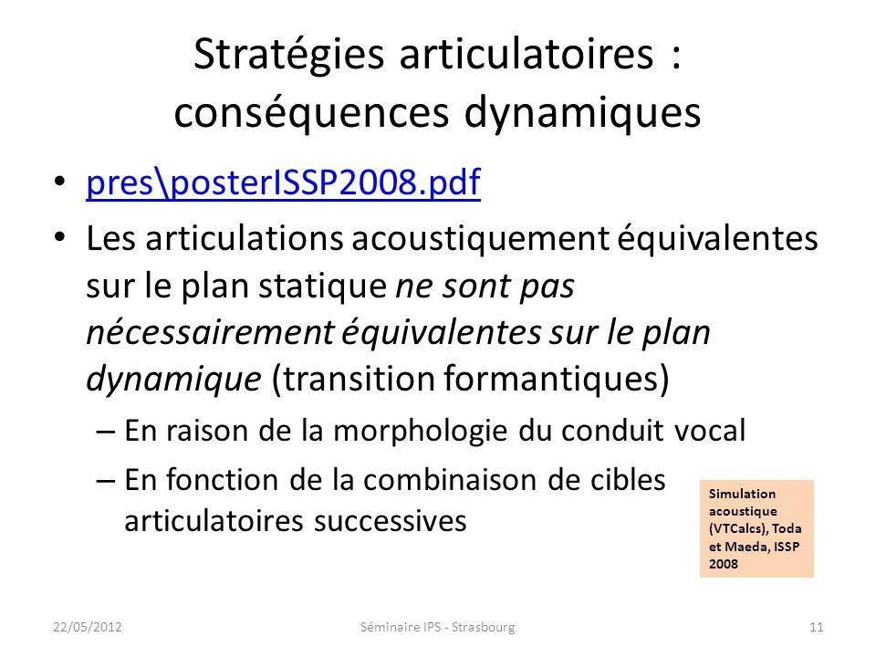 10 Équivalence acoustique Hz lCA (mm) lCPal (mm) Fréquence de coupure des 104 combinaisons ʃ (déformation) ʃ (recul) Simulations acoustiques à laide d
