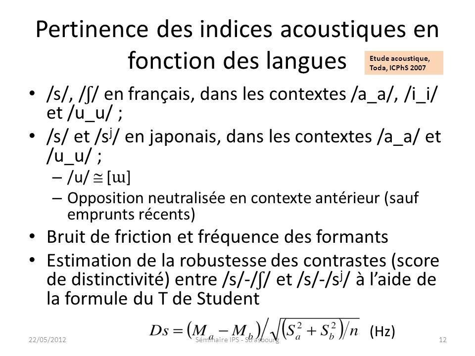 Stratégies articulatoires : conséquences dynamiques pres\posterISSP2008.pdf Les articulations acoustiquement équivalentes sur le plan statique ne sont
