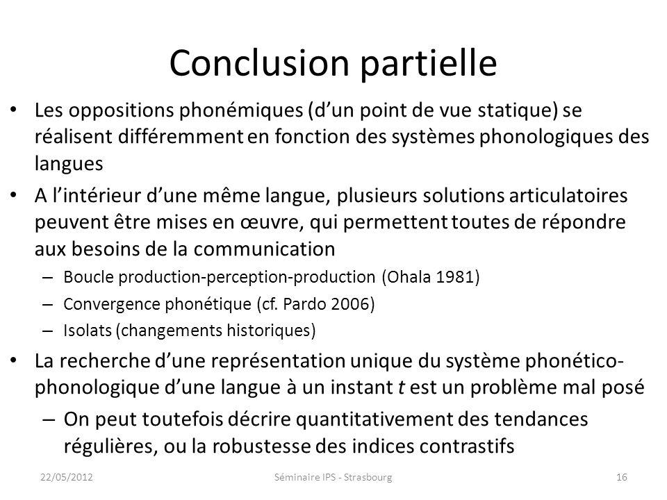 Contraste des sibilantes : résumé En français, langue où le bruit de friction constitue un indice robuste pour la distinction /s/-/ ʃ /, les locuteurs