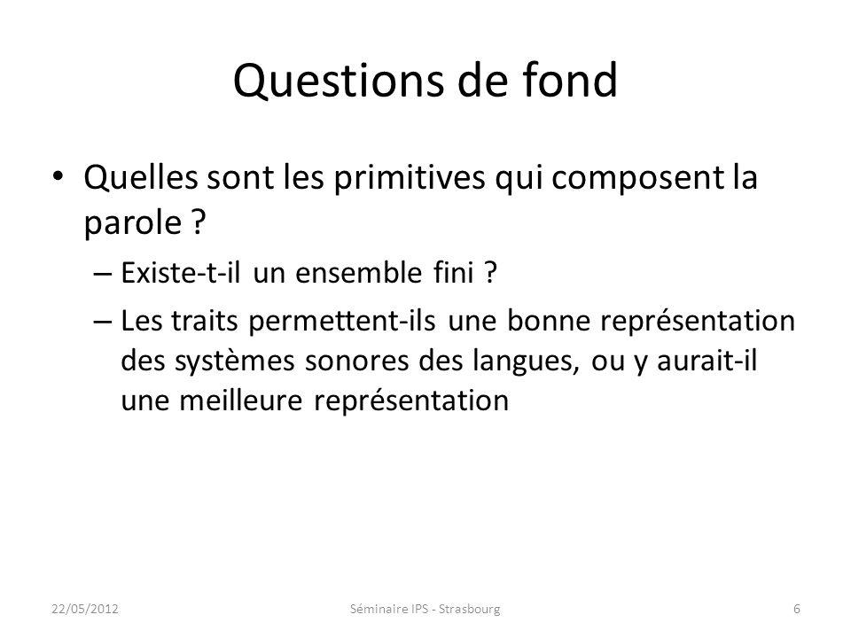 Questions de fond Quelles sont les primitives qui composent la parole .
