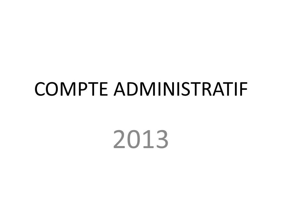 COMPTE ADMINISTRATIF 2013 ADOPTION