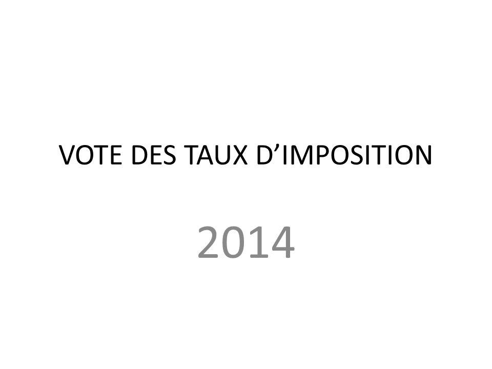 VOTE DES TAUX DIMPOSITION 2014