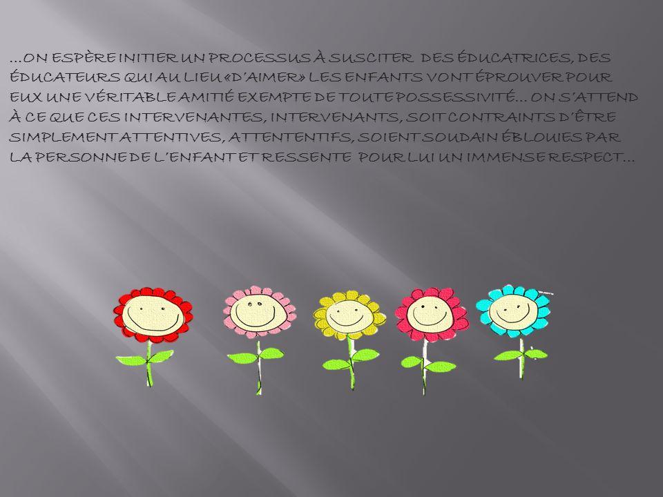 Contrairement à la relation maternelle, c est le soin qui est fondateur de la relation et non linverse.