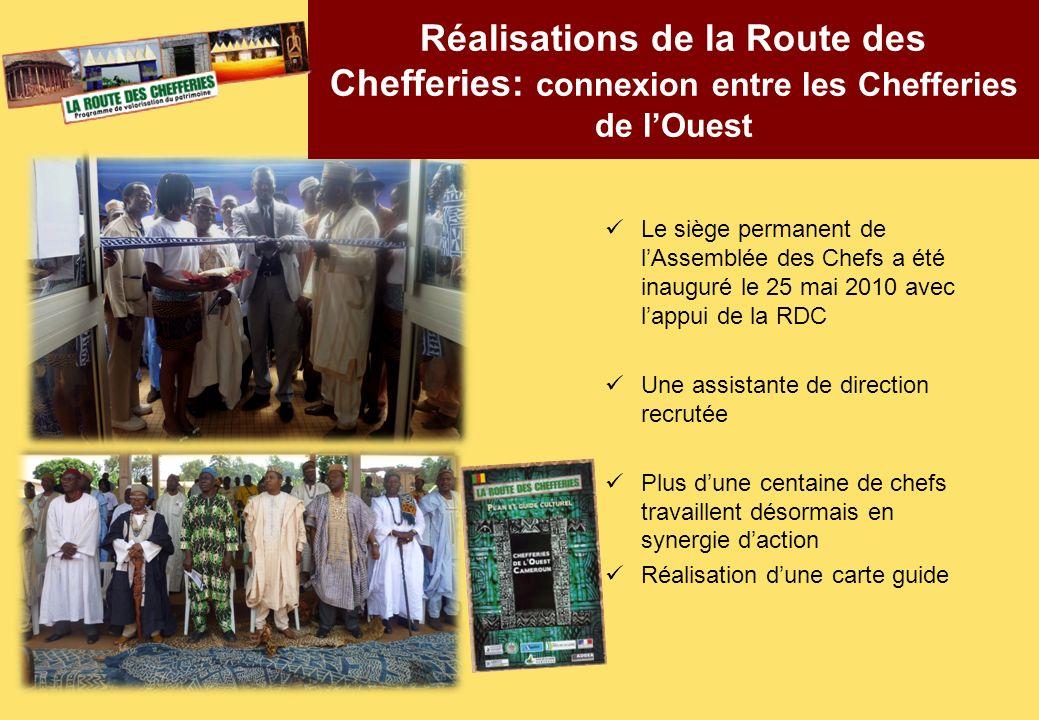 Le siège permanent de lAssemblée des Chefs a été inauguré le 25 mai 2010 avec lappui de la RDC Une assistante de direction recrutée Plus dune centaine