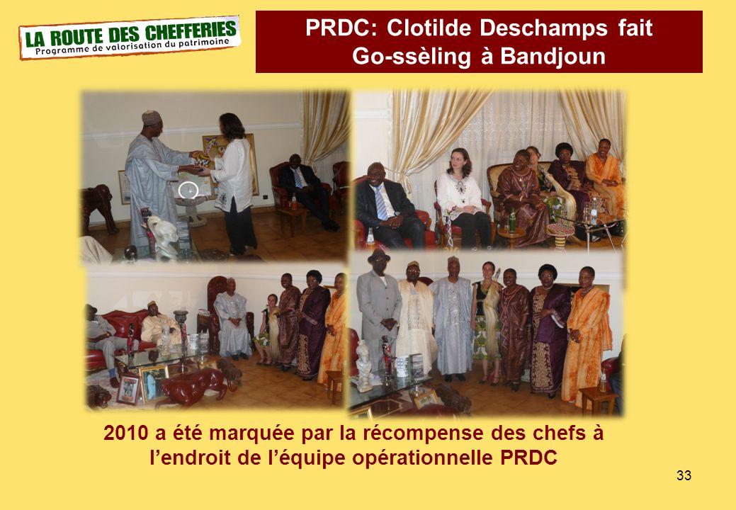 PRDC: Clotilde Deschamps fait Go-ssèling à Bandjoun 2010 a été marquée par la récompense des chefs à lendroit de léquipe opérationnelle PRDC 33
