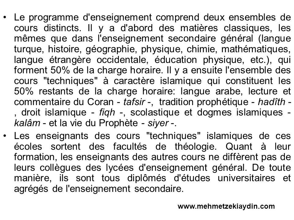 4.L ENSEİGNEMENT SUPERİEUR A CARACTERE RELİGİEUX (FACULTE DE THEOLOGI) La première faculté de théologie musulmane, fut crée à l Université d Ankara en 1949.