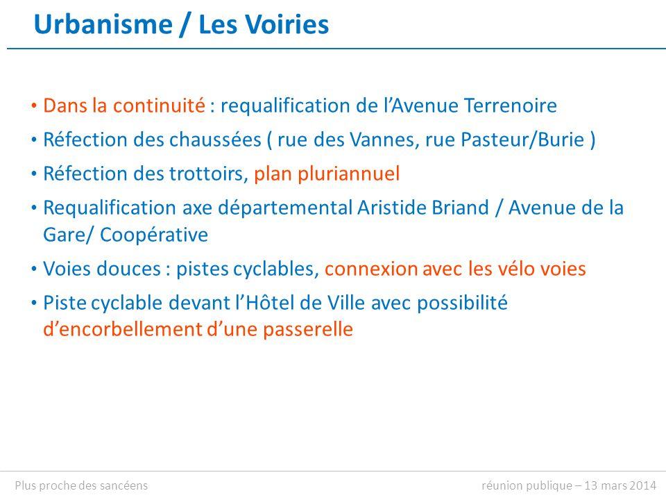 plan réunion publique – 13 mars 2014Plus proche des sancéens