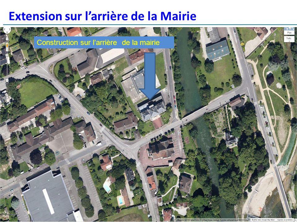 Extension sur larrière de la Mairie réunion publique – 13 mars 2014 Construction sur larrière de la mairie