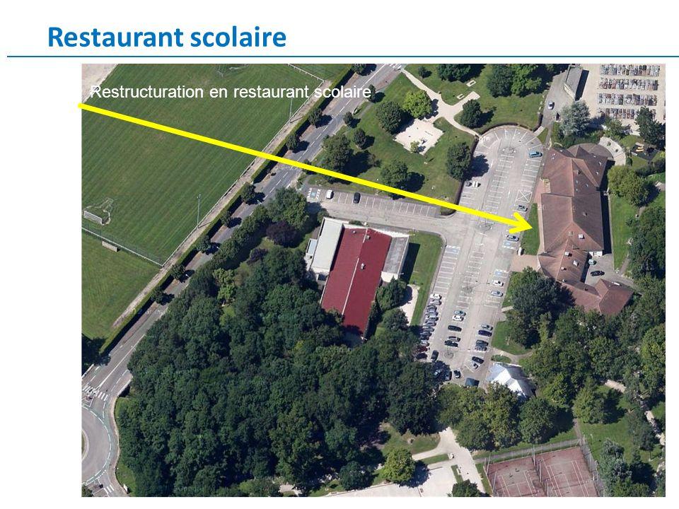 Restaurant scolaire Restructuration en restaurant scolaire